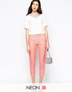 Enlarge Starlet Jacquard Cropped Trouser
