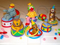 CIRCUS CAKE TOPPERS by dorys.abad, via Flickr