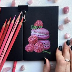 No automatic alt text available. Colored Pencil Artwork, Color Pencil Art, Colored Pencils, Sweet Drawings, Colorful Drawings, Art Drawings, Black Paper Drawing, Colored Pencil Tutorial, Graphic Artwork