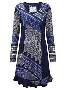 Buy Joe Browns - Printed dress »Amazing topaz dress« blue in the Heine Online Shop