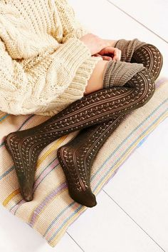 21 Looks with Thigh Highs Socks Glamsugar.com
