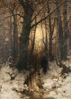 Winter Evening by Ludwig Munthe