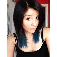 You can go a little more subtle with dark blue ends. | 35 Low-Key Ways To Add Color To Your Hair