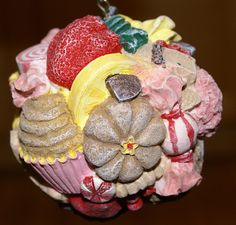 Candy Topped Cupcake Dessert Sweets Christmas Ornament - 4 inches
