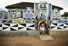 The Painted Houses Of The Ndebeles Amusing Planet in house painting names African Hut, African Tribes, African Girl, Initial Wall Art, Name Paintings, Afrique Art, Contemporary African Art, Vernacular Architecture, African Masks