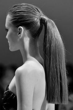 Girl with ponytail.