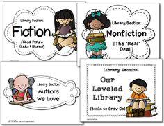 Classroom Library Printable Freebies
