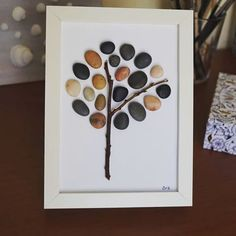 A pebble tree... #pebbleart #art #craft #crafting #crafter #occasionalcrafter #tree #hearttree #pebbletree #pebbles #beachpebbles #beachfindings #decor #homedecor #decoration #inspiration #natureinspired #doityourself #diy #handmade #frame #EviG_Crafted