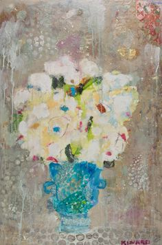 """Petite Vase"" 36x24 Mixed Media Available at Anne Irwin Fine Art 404-467-1200"