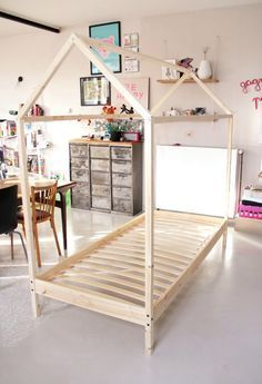 free diy furniture plans how to build a toddler house bed the design confidential. Black Bedroom Furniture Sets. Home Design Ideas