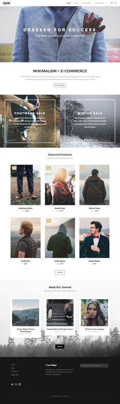 Gear WordPress E-commerce Product Theme - www.wpchats.com