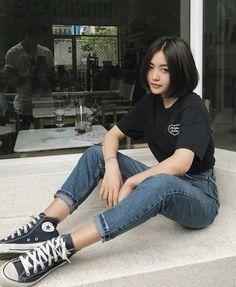 Midrise Black Denim Flare Jeans is part of Fashion outfits - Saint Laurent Black midrise denim flare jeans Neue Outfits, Grunge Outfits, Girl Outfits, Summer Outfits, Fashion Outfits, Fashion Ideas, Womens Fashion, Fashion Clothes, Hipster Outfits
