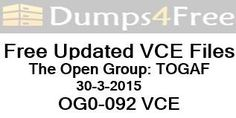 OG0-092 Togaf9 Passin1day Mar-2015 By Walkner Get Updated Braindumps. http://dumps4free.com/download/OG0-092_Togaf9_Passin1day_Mar-2015_By_Walkner_Get_Updated_Braindumps