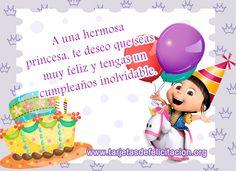 tarjetas de cumpleaños para niñas Happy Birthday Ecard, Happy Birthday Greetings, Birthday Quotes, Birthday Cards, Prayer For My Children, Happy Day, Projects To Try, Birthdays, Baby Shower