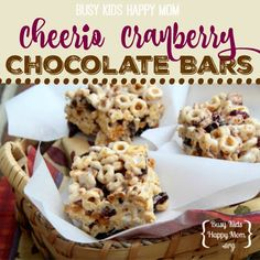 Cheerio Snack Bars