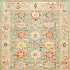 Heritage Light Blue & Ivory Tufted Wool Rug