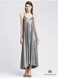 BR Monogram Silver Jersey Trapeze Dress