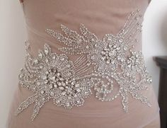 Rhinestone Applique for Wedding Dress  Bridal Gown por gebridal