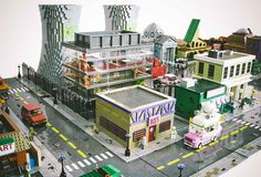 A LEGO Replica Of The Simpsons Town Of Springfield - Supercompressor.com