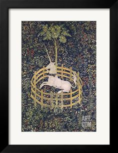 The Unicorn in Captivity Tapestry Giclee Print at Art.com