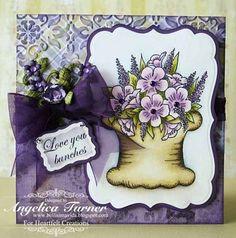 Heartfelt Creations | Purple Botanical Floral Basket