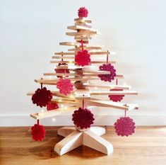 Make it a Sustainable Christmas with our Wood Xmas Trees! Maybe from recycled Oregon (Douglas fir) timber in Melbourne, we ship across Australia! #ecochristmas