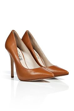 KORS MICHAEL KORS Luggage Brown Leather Pumps
