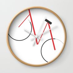 Bicycle Wall Clock  #Nileshkikuuchise ##passion #bike #bicycle #cycle #cycling #minimal #minimalism #art #design #homedecor