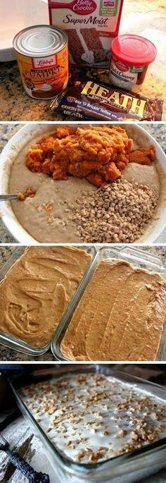 Pumpkin Spice Crunch Cake!