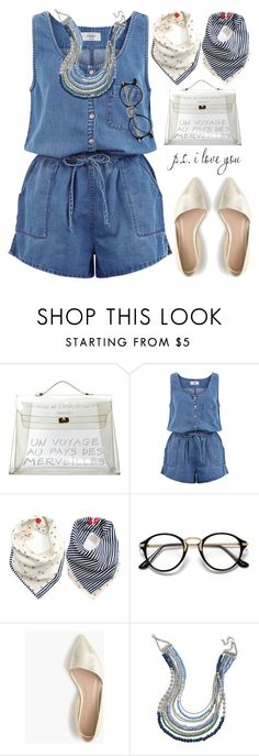 """Voyage"" by grozdana-v ❤ liked on Polyvore featuring Hermès, New Look, J.Crew, BillyTheTree, denim and playsuit"