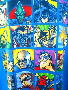 DC Comics Tee Shirt XL Green Lantern Superman Flash Batman Aquaman Super Heros #DCComics #GraphicTee