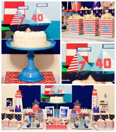 Sweet & Clever is sharing this adorable #nautical #lighthouse birthday party on KarasPartyIdeas.com today!
