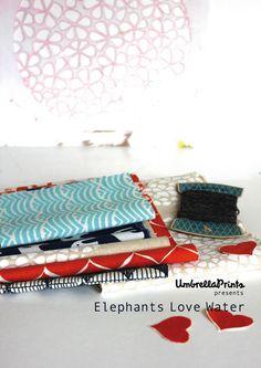 Umbrella Prints: Elephants Love Water