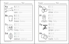 Posts about alpabetong Filipino worksheets written by samutsamot_mom Classroom Rules Poster, Kindergarten Worksheets, Kids Worksheets, Tagalog, Reading Material, Kids Education, Filipino, Kids Learning, Philippines
