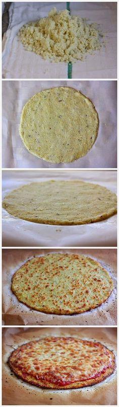 the best cauliflower crust pizza, gluten free and healthy! paleo lunch cauliflower