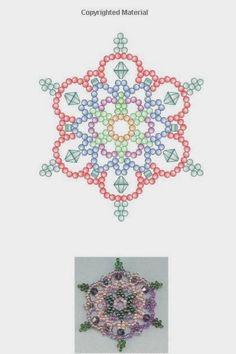 Beaded Lace Snowflake Ornaments Sandra D Halpenny p 22