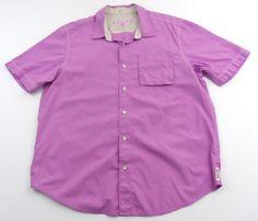 Tommy Bahama Relax Size XL Island Modern Fit Button Up Shirt Purple Diamond Cut #TommyBahama #ButtonFront