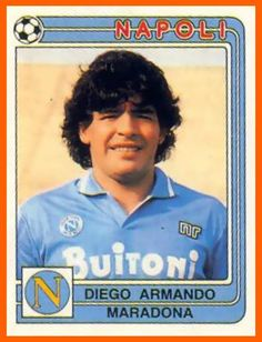 hand of god. but who IS the god that's the question Football Icon, World Football, Football Soccer, Football Trading Cards, Football Cards, Good Soccer Players, Football Players, Naples, Fifa