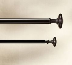 "Vintage 1.25"" diam. Drape Rod & Wall Bracket, Medium, Oil-Rubbed Bronze finish"