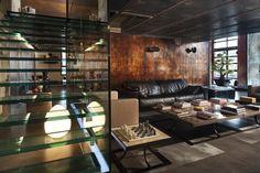 loft - Industrial - Living Room - Other Metro - Marco Dellatorre Design Salon, Loft Design, House Design, Pad Design, Modern Design, Loft Industrial, Industrial Living, Vintage Industrial, Unique Vintage