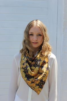 Digitally Printed Silk Scarf - Sorrento Moss by CoconutTextiles on Etsy