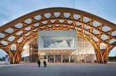 Centre Pompidou #Metz by Shigeru Ban Architects (2010), #France ... Area: 11330 sqm.