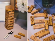 Guests were invited to sign Jenga pieces instead of a guest book – what a brilliant idea!