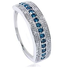Hey, I found this really awesome Etsy listing at https://www.etsy.com/listing/163068930/12ct-blue-white-diamond-ring-wedding