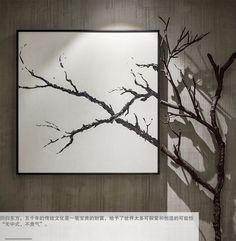 Art, tree, square, frame, interior design