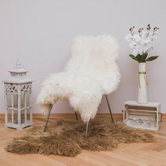 10 Ways to Create a Cozy Wedding Reception Icelandic Sheepskin Rug by SweetHomeLY Cozy Wedding, Wedding Reception, Reception Ideas, Sheepskin Throw, White Throws, Soft Hair, Natural Rug, Diy Wedding Decorations, Decorating Rooms