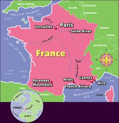 Interactive guide to France Learn French Fast, How To Speak French, French Teaching Resources, Teaching French, France For Kids, Class Journals, Country Report, France Country, French Crafts