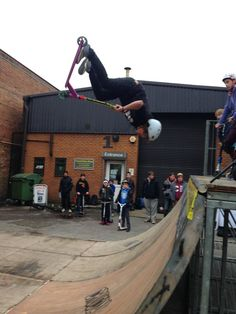 Grit Pro Team Rider Kieran O'Reilly at the Crucial Scooters Demo 24th March 2013