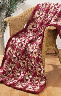 Crochet Rich Treasure Throw Free Crochet Pattern from Red Heart Yarns