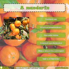 A mandarin jótékony hatásai